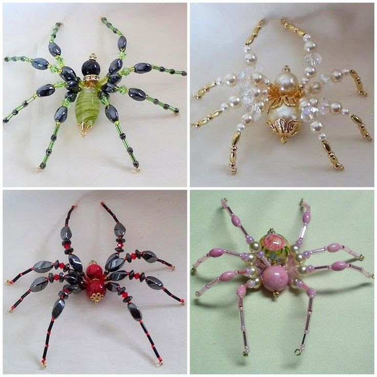 DIY Beaded Spiders. Yes.