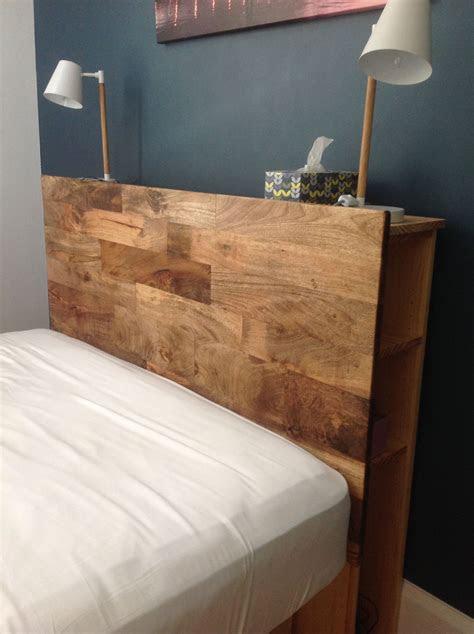 diy bed head  hidden shelf storage head board