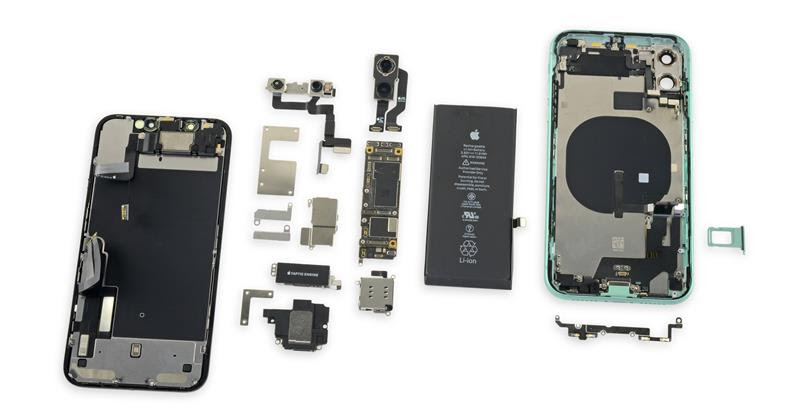 iPhone 11 stacked logic board
