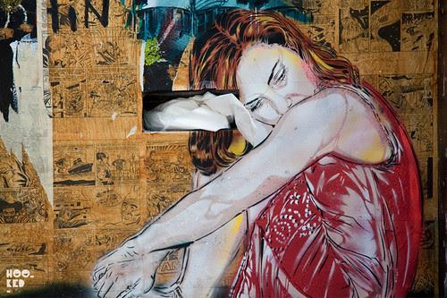 Jana & JS, Street Art Stencil Work in London. Photo ©Hookedblog / Mark RIgney