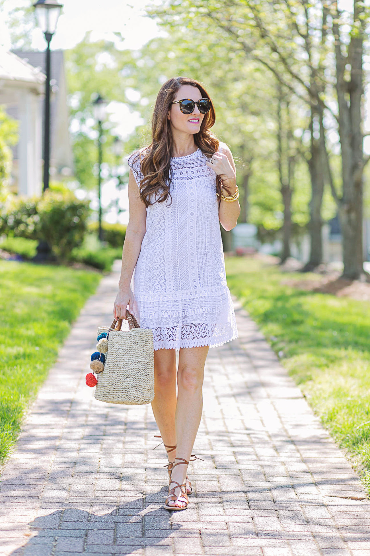 cute white summer dress  peaches in a pod blog