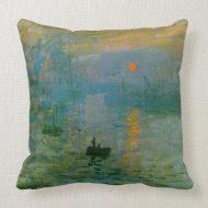 Monet Impression, Sunrise Fine Art MoJo Pillow throwpillow