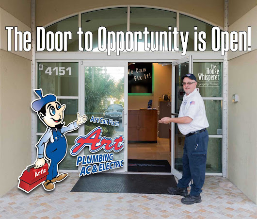 The Door to Opportunity is Open! - Art Plumbing, AC & Electric