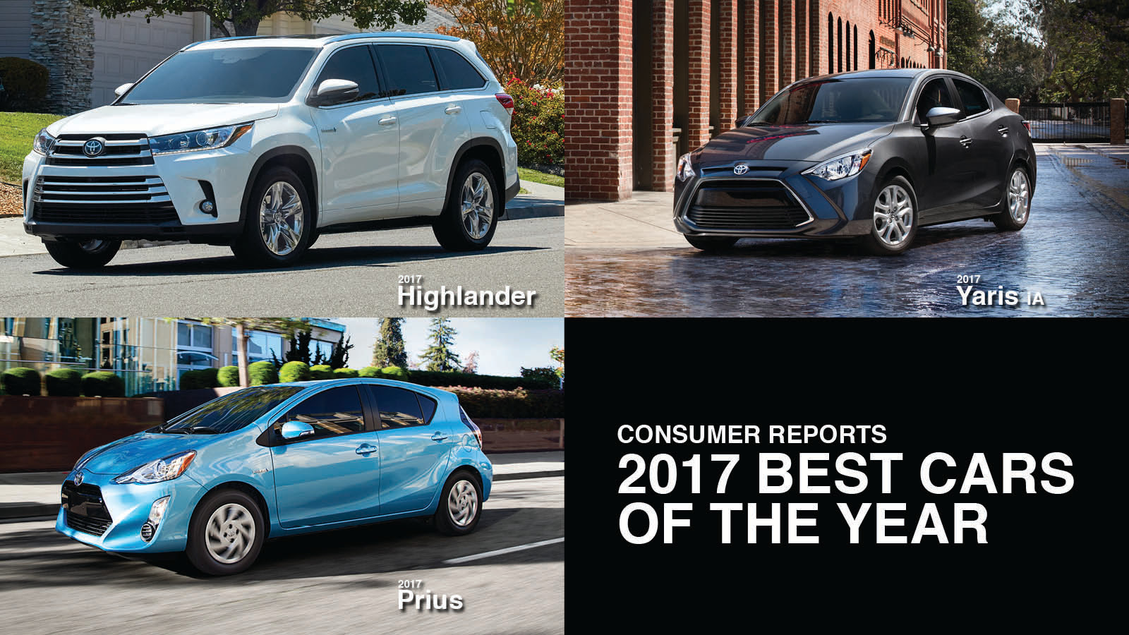 Consumer Reports Names 3 Toyotas To 2017 Best Cars Of The Year List