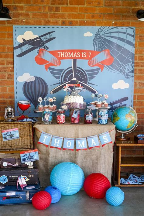 Kara's Party Ideas Vintage Aviation   Travel Party   Kara