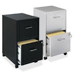 Lorell LLR16873 Steel Mobile File Cabinet 2-DR 14.25 in. x 18 in. x 24.5 in. MC-CCL