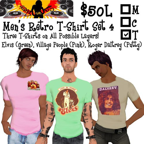 HTDJ! Men's Retro T-Shirts Set 4_Ad