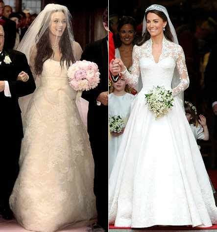 Blair Waldorf and Kate Middleton's wedding dress