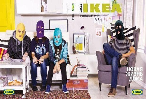 La foto pro Pussy Riot che Ikea ha deciso di rimuovere dal suo sito