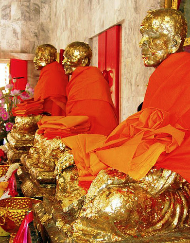 Locals together with many Thai tourists come upward to pray together with pay respects to several revered monks who  <a href=