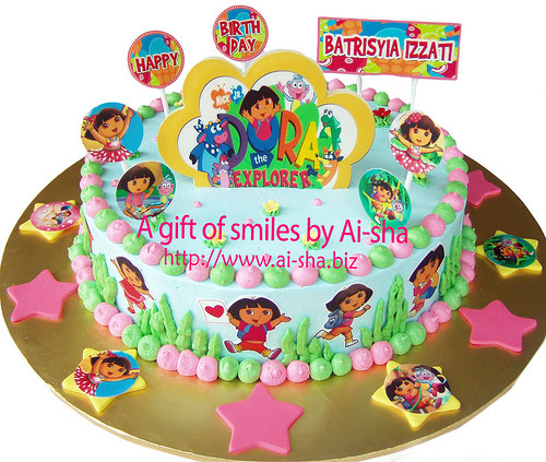 Birthday Cake Edible Image Dora The Explorer