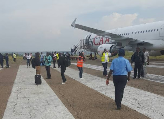 Congolese regional airline flyCAA Airbus A321 blocked on runway shortly before take-off at Mbuji-Mayi - Aviation24.be