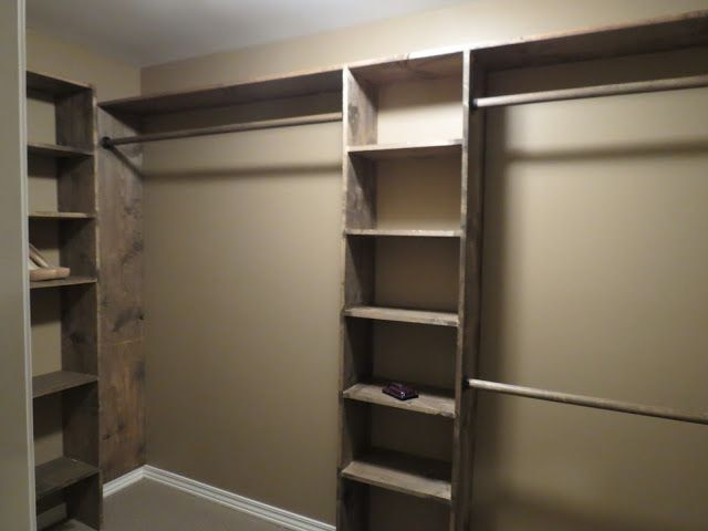 DIY closet shelves - Walk-in closets