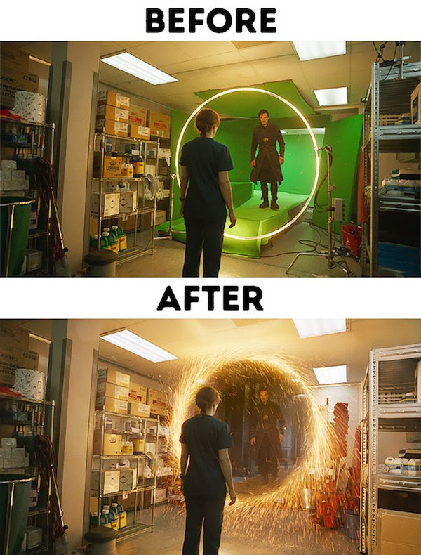 2 - 30 before and after special effects scenes