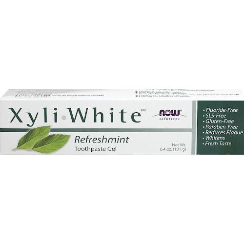 Now Xyliwhite Fluoride-Free Toothpaste, Refreshmint, 6.4 Oz