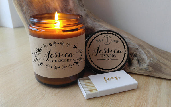 Name Meaning Personalized Candle Bridesmaid Gift Candle ...