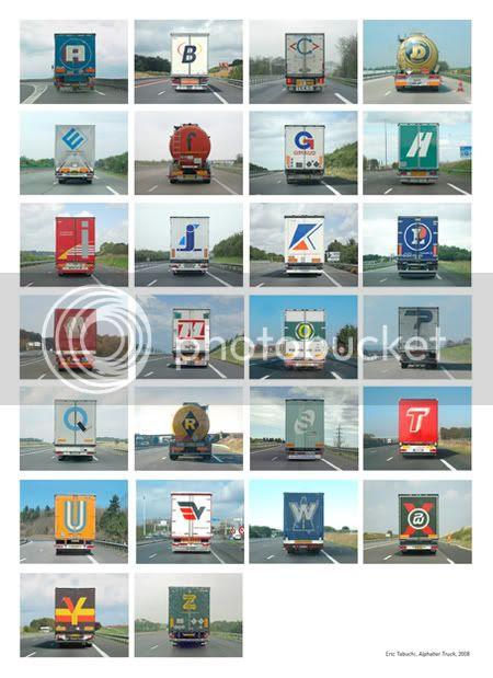 truck door alphabet