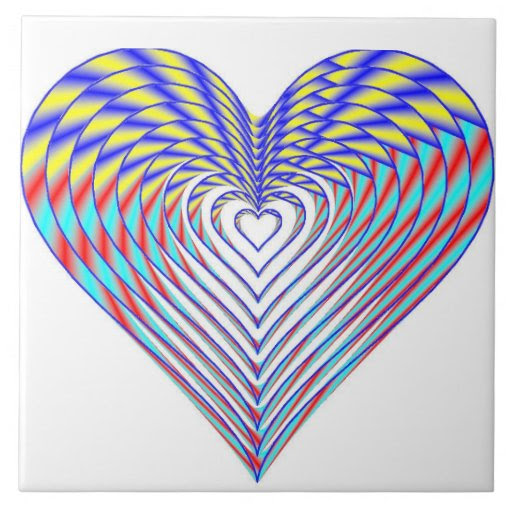 Heart of the Rainbow Tile
