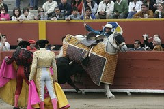 Picador peruano debuta con susto