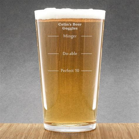 Beer Goggles Perfect 10 Personalised Pint Glass