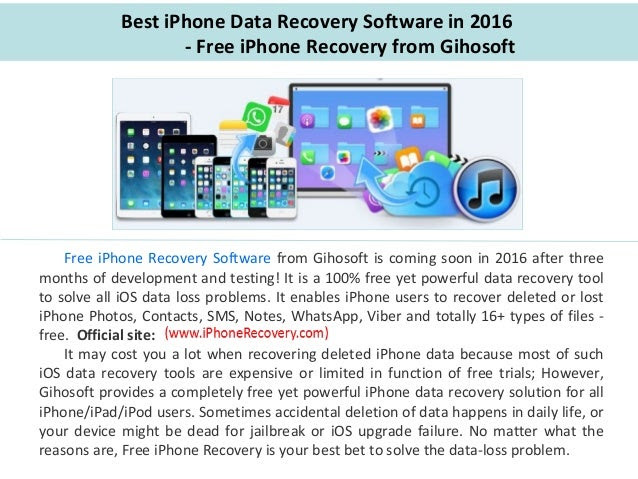 Best iPhone Data Recovery Software in 2016Free iPhone Recovery from