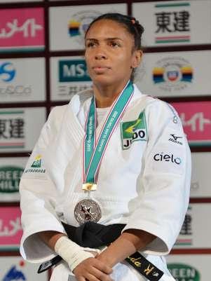Érika Miranda ficou com a prata Foto: Getty Images