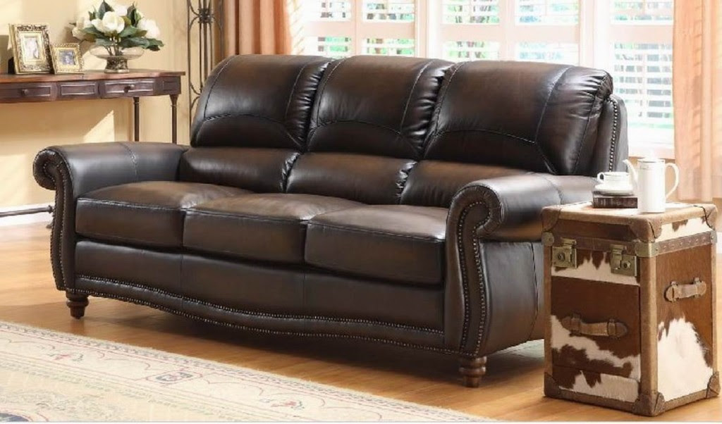 Furniture: Gorgeous Classic Style Big Sofas Brown Color Artistic ...