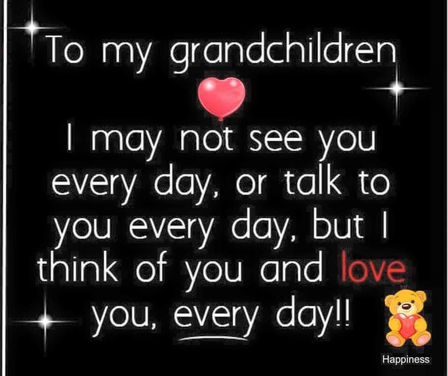 To My Grandchildren I May Not See You Everyday Or Talk To You