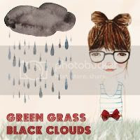 Green Grass and Black Clouds