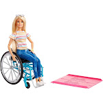 Barbie Fashionistas Doll #132 Blonde with Rolling Wheelchair and Ramp