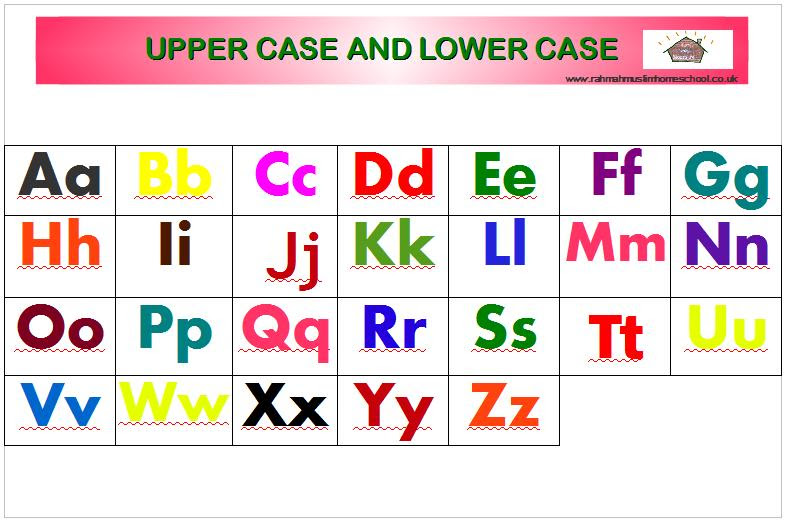 Free Printable Alphabet Letters Upper And Lower Case - Scalien