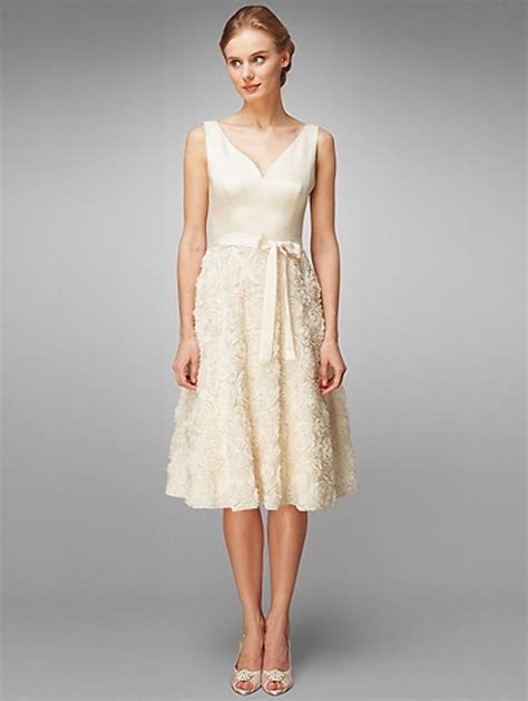 Summer ivory casual wedding dresses   Styles of Wedding