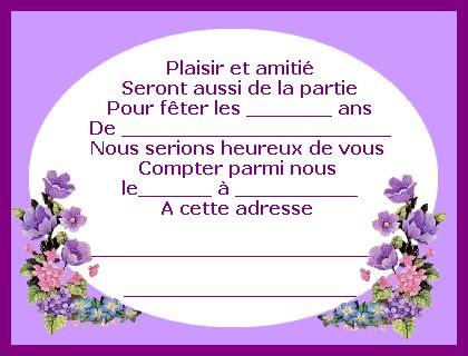Invitation D Anniversaire Adulte - d'anniversaire 8