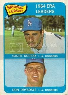 #8 NL ERA Leaders: Sandy Koufax and Don Drysdale