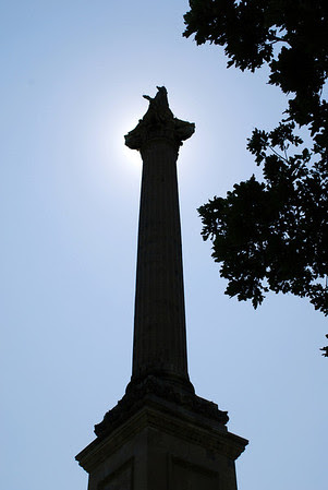 Silhouette of Brock's Monument, Queenston Heights Park, Ontario.