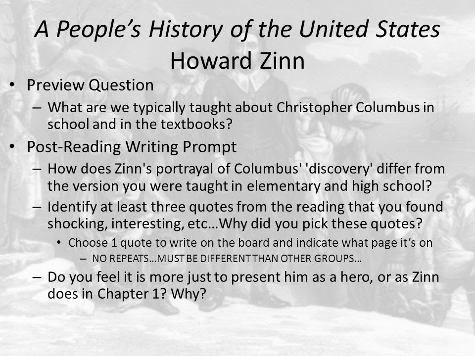 A Peoples History Of The United States Howard Zinn Ppt Video