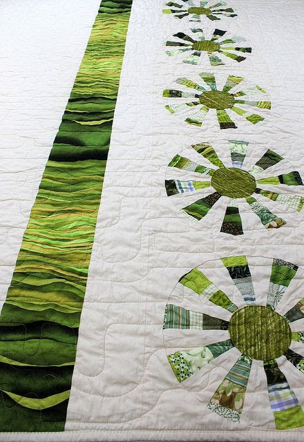 Love the white space in the pinwheel. I guess I'd better leave the computer and sit at my sewing machine if I ever want to make all the stuff!