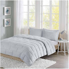 Intelligent Design - Avery Seersucker Down Alternative Comforter Mini Set - Grey - King