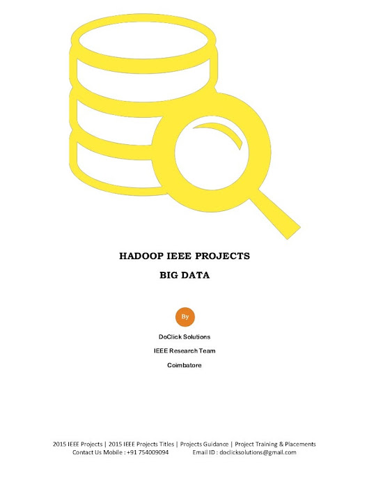 Hadoop big data 2015 ieee papers - 2015 ieee projects
