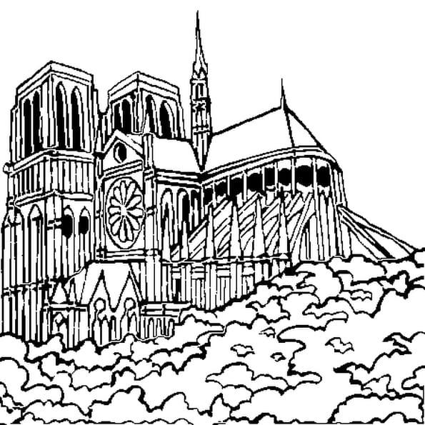 Coloriage Notre Dame De Paris My Blog