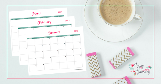 10 Ways to Use Your Free 2017 Printable Calendar - Enjoy the Learning Journey