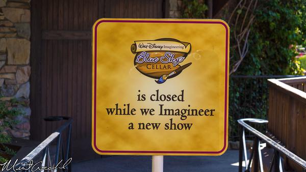 Disneyland Resort, Disney California Adventure, Blue Sky Cellar, Refurbishment, Refurb, Refurbish