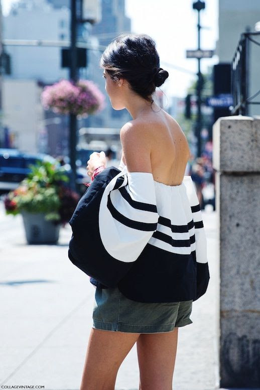 17 Le Fashion 31 Stylish Ways To Wear An Off The Shoulder Look Leandra Medine Man Repeller Via Collage Vintage