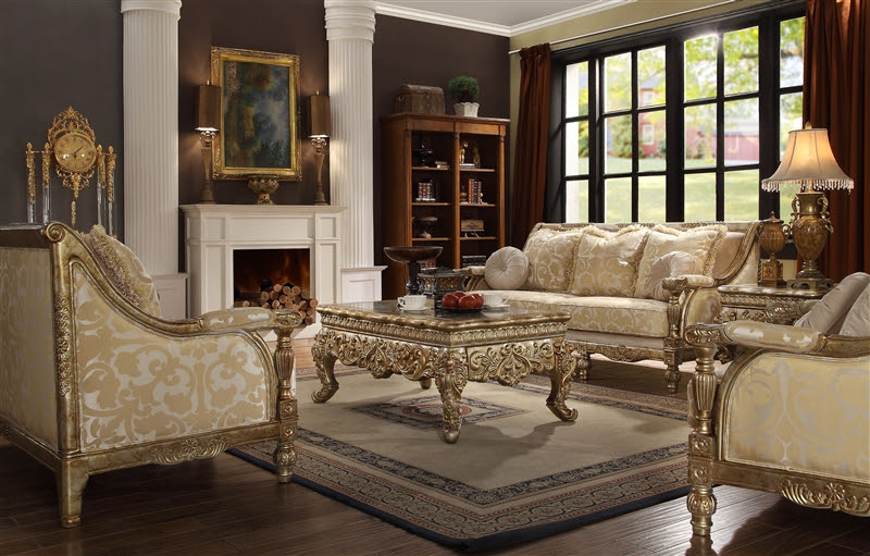 Victorian Wood Trim 2 Piece Living Room Set by Homey ...