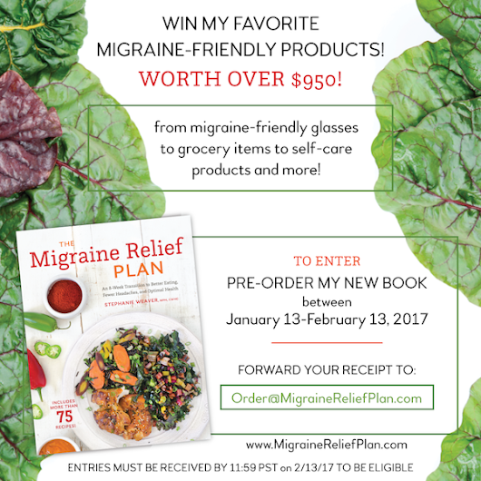 Pre-order giveaway to celebrate The Migraine Relief Plan release