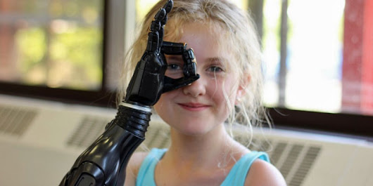 Giving Tilly a Hand: Tilly Lockey, double amputee, tests a pioneering bionic hand to help other children overcome disabilities - Womanthology