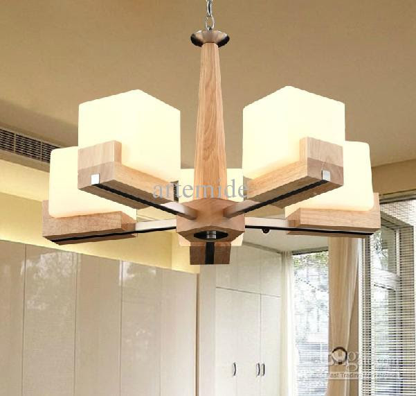 Wholesale Light Color - Buy Modern Fashion Wood Glass Chandeliers ...
