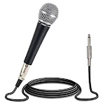 Pyle-pro Professional Moving Coil Dynamic Cardioid Unidirectional Vocal Handheld Microphone Includes 15ft Xlr Audio Cable To 1/4 Audio Connection (