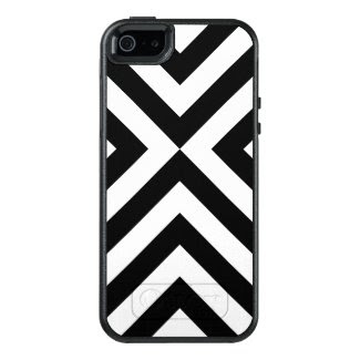 Protective Geometric Black and White Chevrons Case