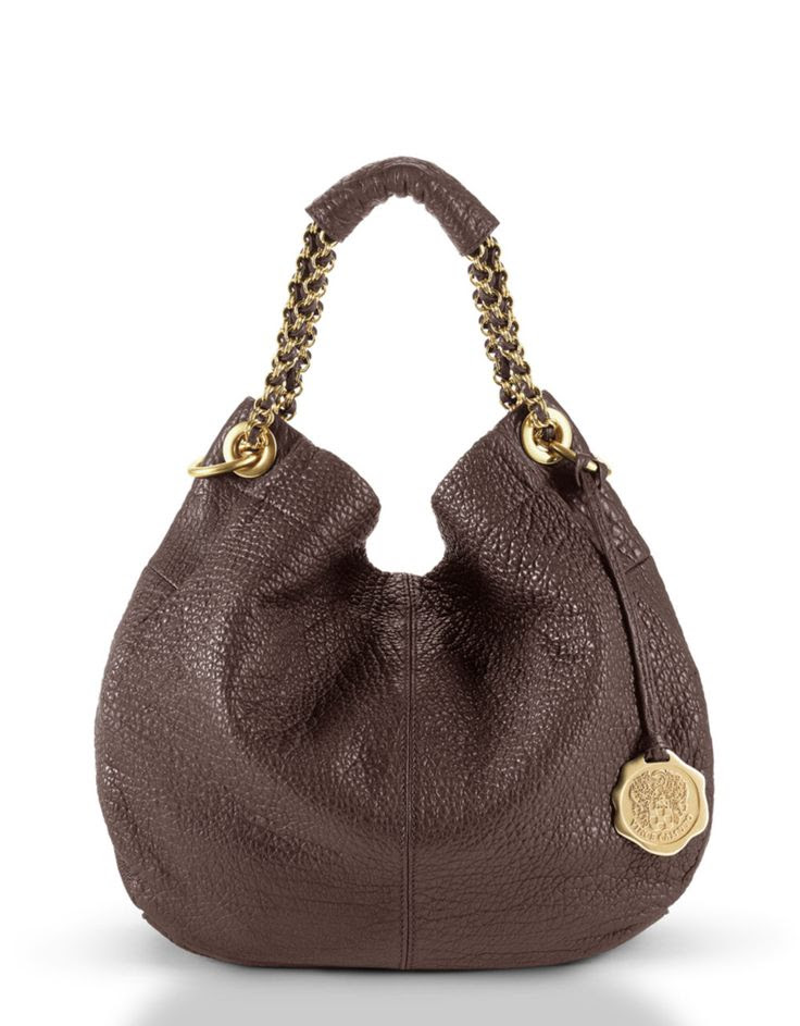 Vince Camuto Charlie Leather Hobo Bag in Brown
